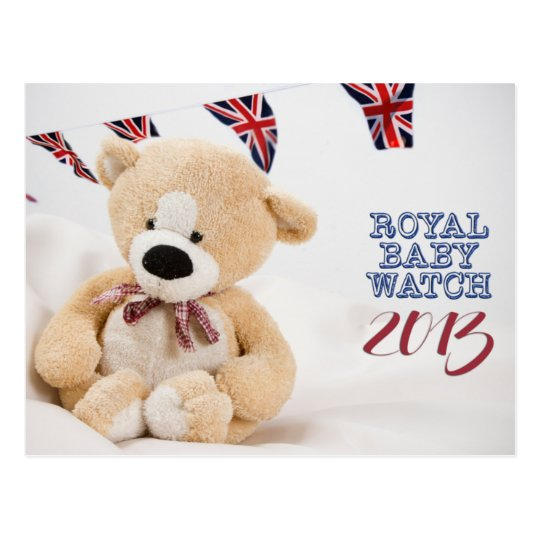 Royal Baby Watch 2013 postcard