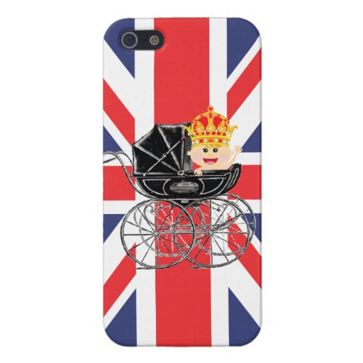 Royal Baby with Crown and Union Jack iPhone 5 Cover