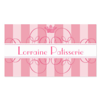 Royal Bakery Pink Calligraphy Crown Business Cards