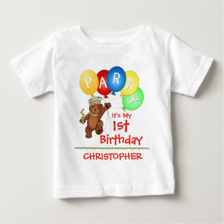 Royal Bear 1st Birthday Party Custom Baby T-Shirt
