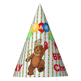 Royal Bear Custom 2nd Birthday Party Hat
