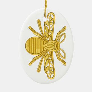 royal bee, imitation of embroidery christmas ornament
