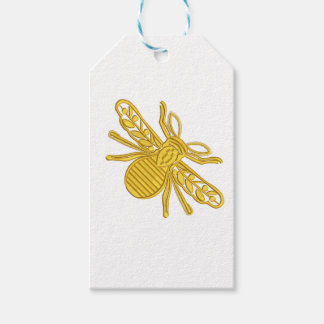 royal bee, imitation of embroidery gift tags