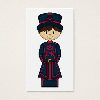 Royal Beefeater Guardsman Bookmark Business Card