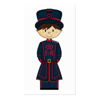Royal Beefeater Guardsman Bookmark Pack Of Standard Business Cards