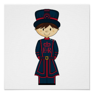 Royal Beefeater Guardsman Canvas Poster