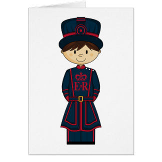 Royal Beefeater Guardsman Card