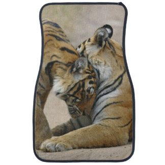 Royal Bengal Tiger and young ones - touching Car Mat