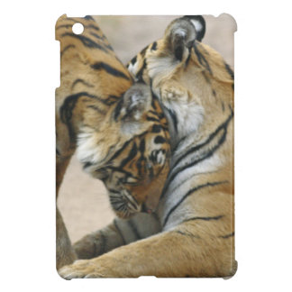 Royal Bengal Tiger and young ones - touching iPad Mini Covers