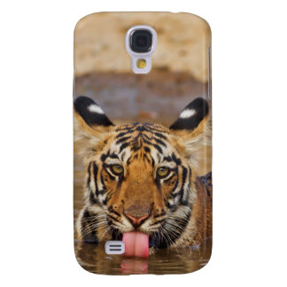 Royal Bengal Tiger cub, drinking water Galaxy S4 Case