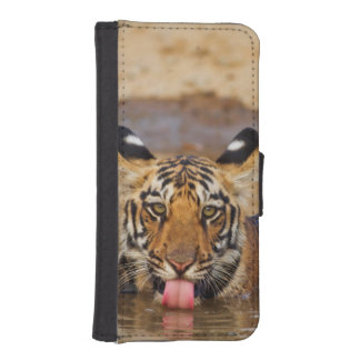 Royal Bengal Tiger cub, drinking water iPhone SE/5/5s Wallet Case