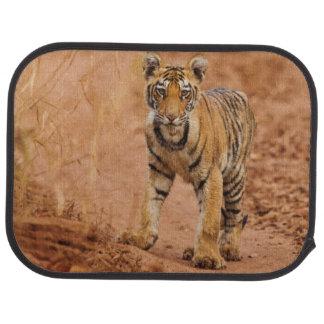 Royal Bengal Tiger cub on the move Car Mat
