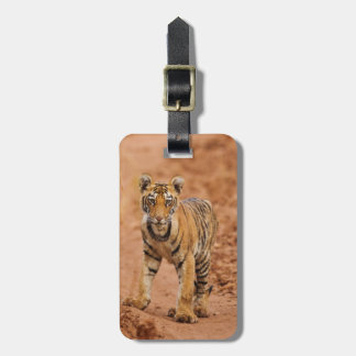Royal Bengal Tiger cub on the move Luggage Tag