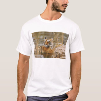 Royal Bengal Tiger in the forest pond, T-Shirt