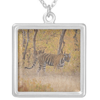 Royal Bengal Tiger in the forest, Ranthambhor Custom Necklace