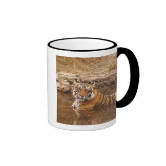 Royal Bengal Tiger in the jungle pond, 2 Ringer Mug