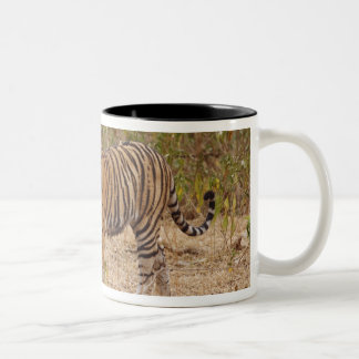Royal Bengal Tiger moving around the bush, Two-Tone Coffee Mug