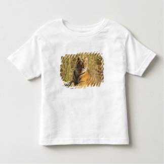 Royal Bengal Tiger sitting outside grassland, Toddler T-Shirt