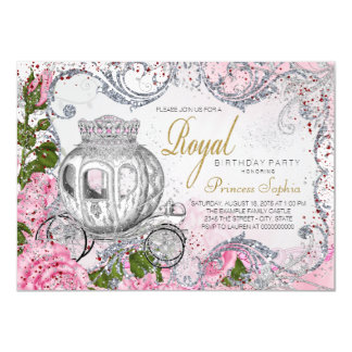 Royal Birthday Party Princess 11 Cm X 16 Cm Invitation Card