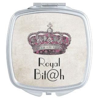 Royal Bit@h Crown  Compact Mirror Compact Mirrors