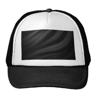 Royal black velvet silk textile elegant chic trucker hat