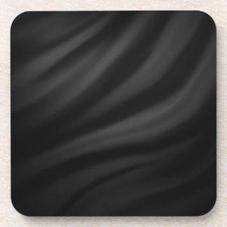 Royal black velvet silk textile elegant chic coaster