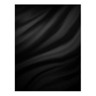 Royal black velvet silk textile elegant chic post card