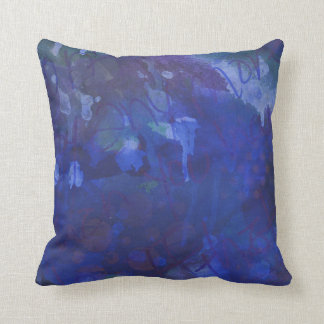 Royal blue abstract cushions