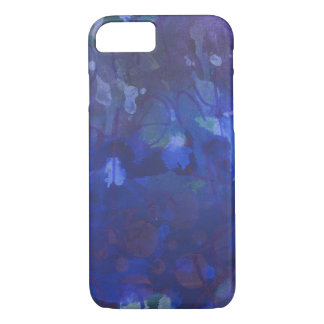 Royal blue abstract iPhone 7 case