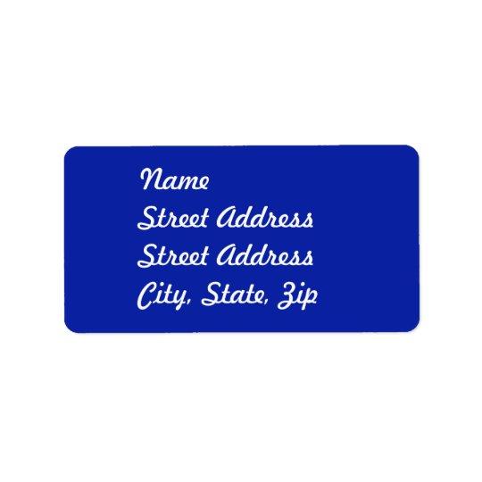 Royal Blue   Address Sticker