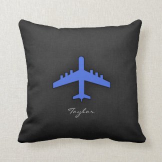 Royal Blue Airplane Cushion