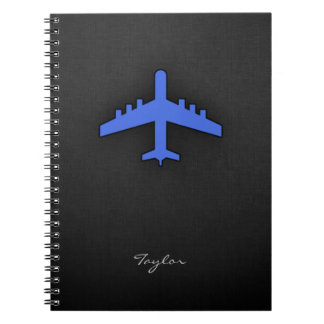 Royal Blue Airplane Notebook