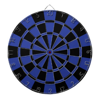 Royal Blue And Black Dartboard