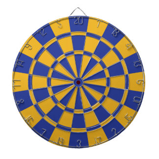 Royal Blue And Gold Dartboard