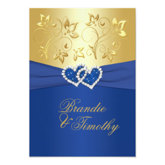 Royal Blue And Gold Wedding Invitations & Announcements | Zazzle.co.uk