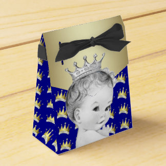 Royal Blue and Gold Prince Baby Shower Favour Box