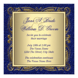 Royal Blue and Gold Wedding