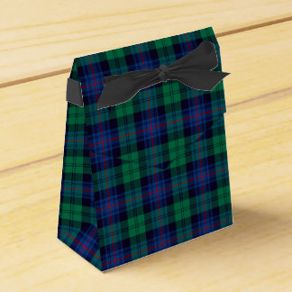 Royal Blue and Green Armstrong Tartan Party Favour Box