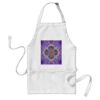 Royal Blue and Purple Abstract Mandala Pattern Standard Apron