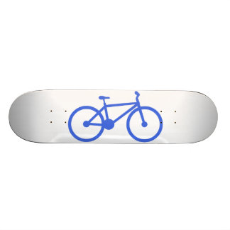 Royal Blue and White Bicycle Skate Board