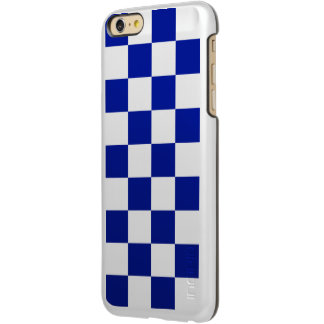 Royal Blue and White Checkered Pattern iPhone 6 Plus Case