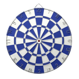 Royal Blue And White Dartboard
