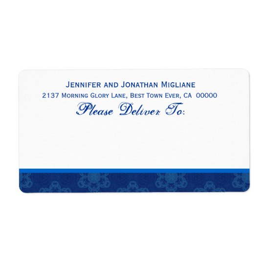 Royal Blue and White Floral Template