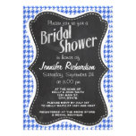 Royal Blue and White Houndstooth; Chalkboard look Custom Invites