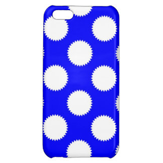 Royal Blue and White Polka Dot Case For iPhone 5C