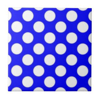 Royal Blue Polka Dot Border Blue Polka Dots Cerami...