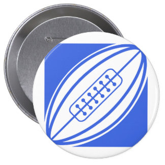 Royal Blue and White Rugby Buttons