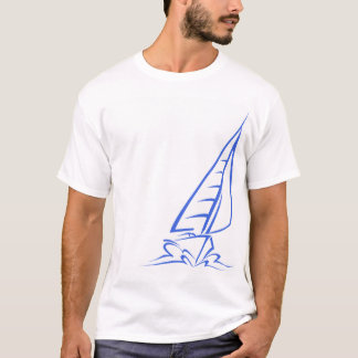 Royal Blue and White Sailing; Sail Boat T-Shirt