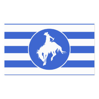 Royal Blue and White Stripes; Rodeo Cowboy Pack Of Standard Business Cards