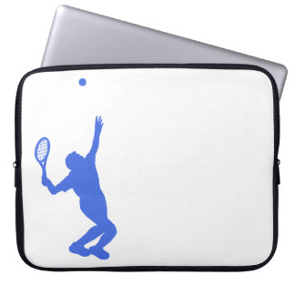 Royal Blue and White Tennis Computer Sleeve